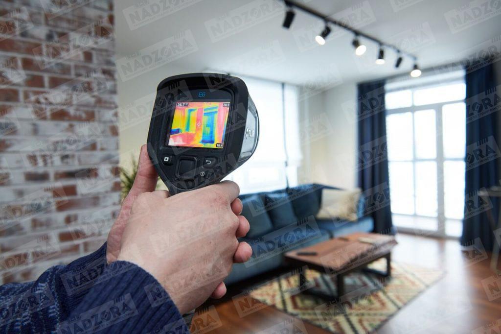 Поиск скрытых строительных дефектов с помощью тепловизора
