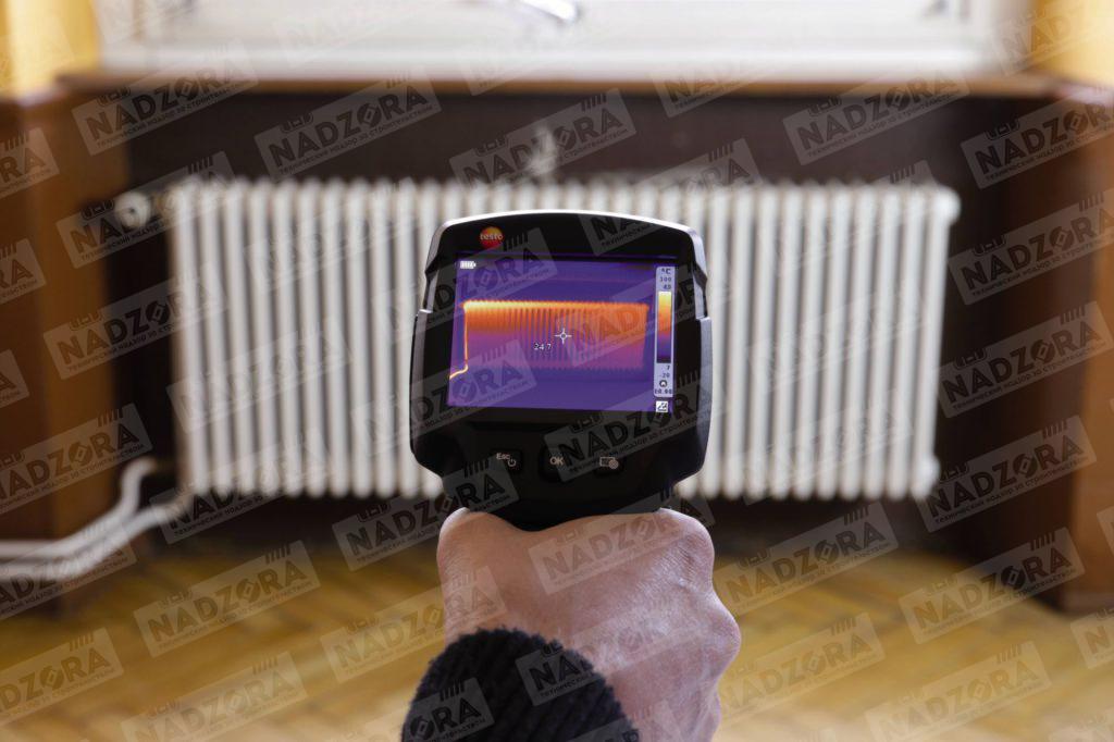 Определение эффективности работы системы отопления с помощью тепловизора